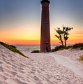 Little Sable Point Light Station by Larry Carr