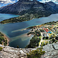 Looking Down On Waterton Lakes by Adam Jewell