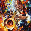 Louis Armstrong . by Leonid Afremov