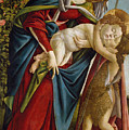 Madonna And Child And The Young St John The Baptist by Sandro Botticelli