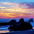 Magical Sunset - Harris Beach - Oregon by Gary Whitton