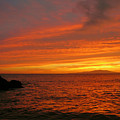 Makena Sunset by Stephen  Vecchiotti