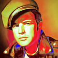 Marlon Brando The Wild One 20160116 Square V2 by Wingsdomain Art and Photography