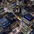 Melbourne At Night  by Ray Warren