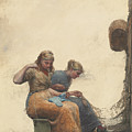 Mending The Nets by Winslow Homer