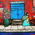 Mexican Door Painting by Pristine Cartera Turkus