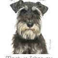 Miniature Schnauzer Poster by Tim Wemple