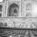 Monochrome Taj Mahal - Sunrise by Neha Gupta