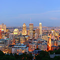 Montreal At Dusk Panorama by Songquan Deng