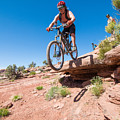 Mountain Biking The Porcupine Rim Trail Near Moab by Elijah Weber