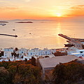 Mykonos Bay Sunset by Songquan Deng