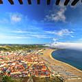Nazare Portugal Skyline by Benny Marty