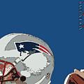 New England Patriots Original Typography Football Team by Drawspots Illustrations