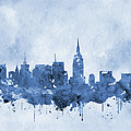 New York Skyline-blue by Erzebet S