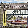 Newcastle Upon Tyne Bridges by Martyn Arnold