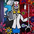 Nurse Dia De Los Muertos by Pristine Cartera Turkus
