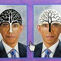Obama Trees Of Knowledge by Richard Barone