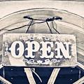 Open Sign by Tom Gowanlock
