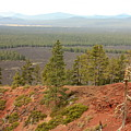 Oregon Landscape - View From Lava Butte by Carol Groenen