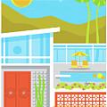 Palm Springs Poster - Retro Travel  by Jim Zahniser