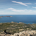 Panoramic View Across Calvi Bay And Revellata In Corsica by Jon Ingall