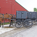 Amish Parking Lot by Ann Horn