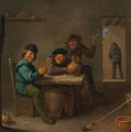 Peasants In A Tavern by David Teniers the Younger