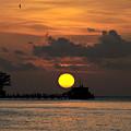 Pier Sunset by David Lee Thompson