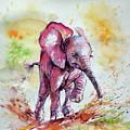 Playing Elephant Baby by Kovacs Anna Brigitta