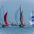 Port Huron To Mackinac Race 2015 by Ronald Grogan