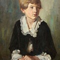 Portrait Of A Seated Child by Emil Rudolf