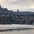 Prague Castle And Charles Bridge by Andre Goncalves