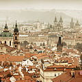 Prague Skyline Rooftop View Panorama by Songquan Deng