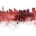 Pretoria Skyline In Watercolor Background by Pablo Romero
