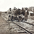 Railroad Workers by Underwood Archives
