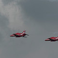 2 Red Arrow Hawk Jets by Philip Pound