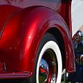 Red Chevy Pickup Fender by Dean Ferreira