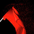Red Flag On Black Background by Humourous Quotes