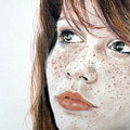 Red Hair and Freckled Beauty