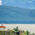 Remote Lighthouse Island Standing In The Middle Of Mud Bay Alask by Alex Grichenko