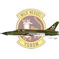 Republic F-105g Thunderchief 561tfs by Arthur Eggers