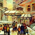 Ritz Carlton Montreal Streetscene by Carole Spandau