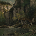 River And Rocks by Gustave Courbet