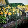 River Through Golden Forest by Dan Shefchik