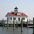 Roanoke Marshes Lighthouse by Christiane Schulze Art And Photography