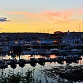 Rockport Harbor Sunset I by Harriet Harding