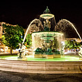 Rossio Square Night by Benny Marty
