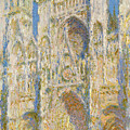 Rouen Cathedral, West Facade, Sunlight by Claude Monet