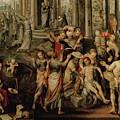 Saint Paul And Saint Barnabas At Lystra by Joachim Beuckelaer