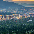 Salt Lake City At Dusk by James Udall